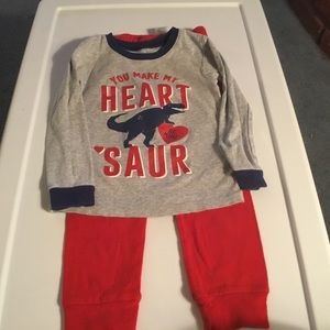 Carter's Boys Gray and Red Pajama Set. Size 4T